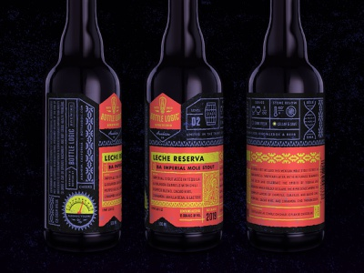 Bottle Logic Leche Reserva Mole Stout branding print packaging design craft beer