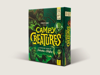 Campy Creatures Second Edition Game print board game games game art packaging design illustration