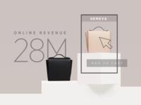 Ecommerce enterprise large business growth graphic