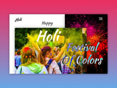 Happy Holi Festival dashboard design website design web design illustration web app