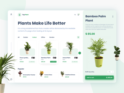 Plants Web Template indoor plants store plant store theme banner theme logo branding ux ui mobile app plants app web banner banner web design web landing plants landing plants web plant plants