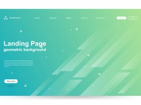 Website Template With Geometric