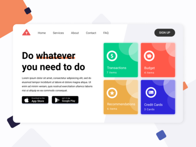 Do whatever website mobile app banner design web app