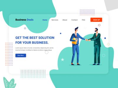Business Deals Design illustration web design banner design