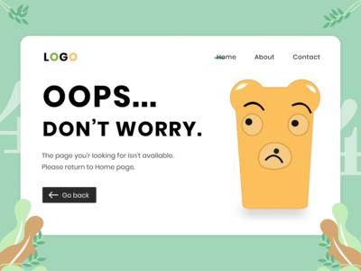 404 Error page web design web app illustration