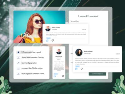 Leave Comment Design illustration banner design web design