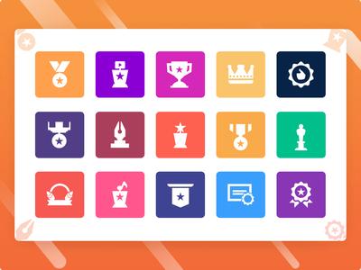 Comp Medal Icons ui ux illustration banner design branding web design