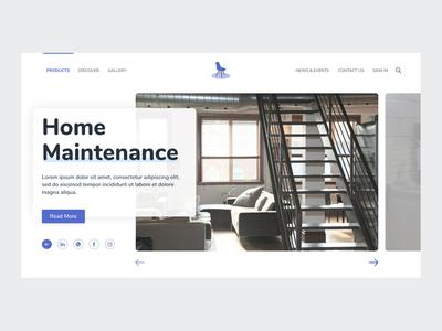 Furniture Site First Slider ux logo illustration banner design web app