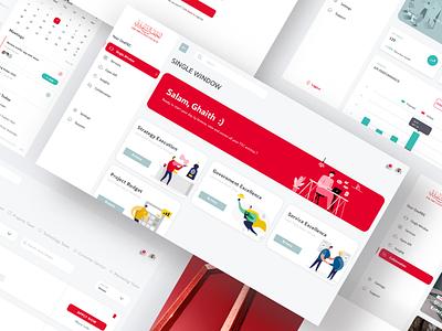 Dubai oneTEC Dashboard illustration minimal clean uae webdesign employee dashboad dubai