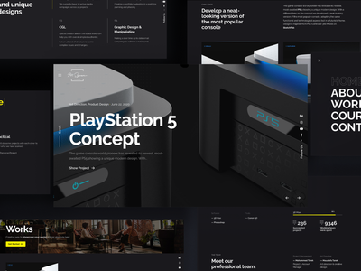 Msquare Studio Website challenge ux ui projects minimal studio slider carousel webdesign portfolio dark mode dark