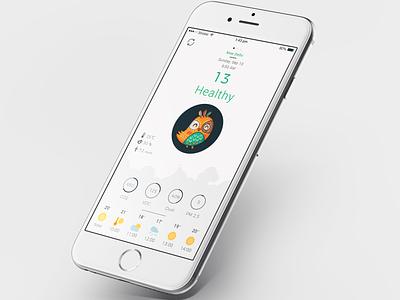 Air Quality App Concept challenge ux app ui air quality index air quality index quality air aqi