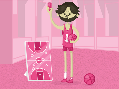 In dribbble draft drawing illustrator 2d flat vector design illustration