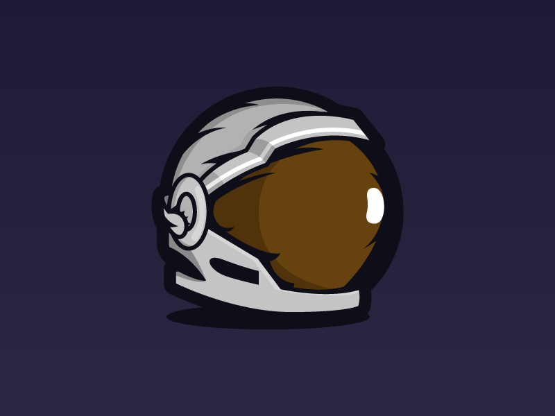 Space helmet identity logo vector illustrator illustration flat drawing design 2d
