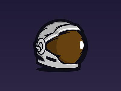 Space helmet identity logo vector illustrator illustration flat drawing design 2d