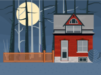 House in a haunted forest