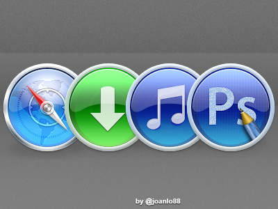 Icons safari download music photoshop pencil circle