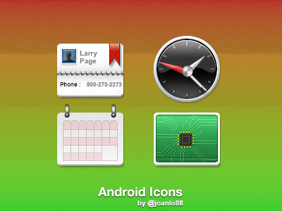 One+ Android android icon one calendar contacts settings clock joanlo