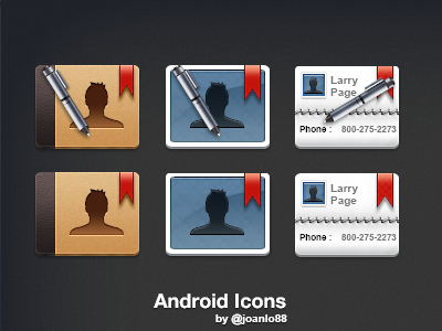 One+ Android  contacts pen icon android one