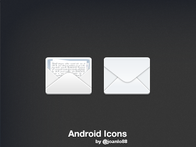 One+ Android onet android theme icon mail envelope letter