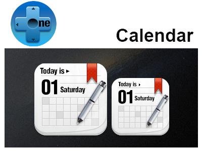 One+ Calendar calendar iphone ipad icon pen one