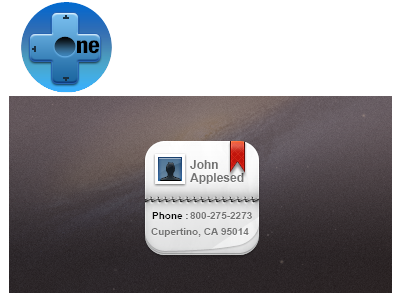 One+    Contacts iphone ipod retina one icon contact