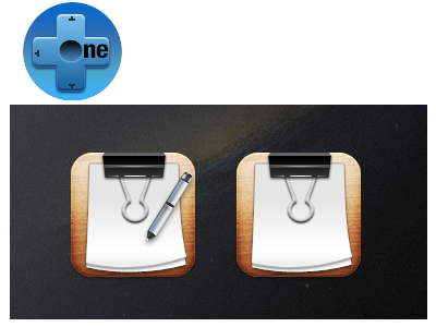 One+  Notes onet notes clip pen iphone theme icon