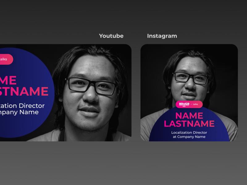 Youtube & Instagram Posts logo design figma social interview instagram post youtube instagram social media design ads ad design