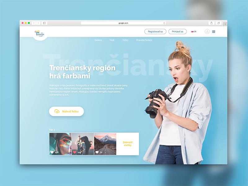 Photography Competition web ux ui page landing design web webdesign