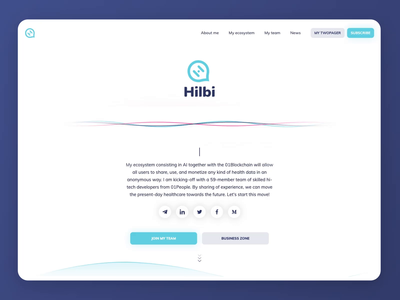 Little animation of our new project Hilbi