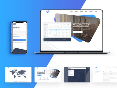 Landing page of Web application