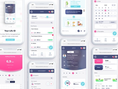 Healthcare App - Manager | Chat | Life ID