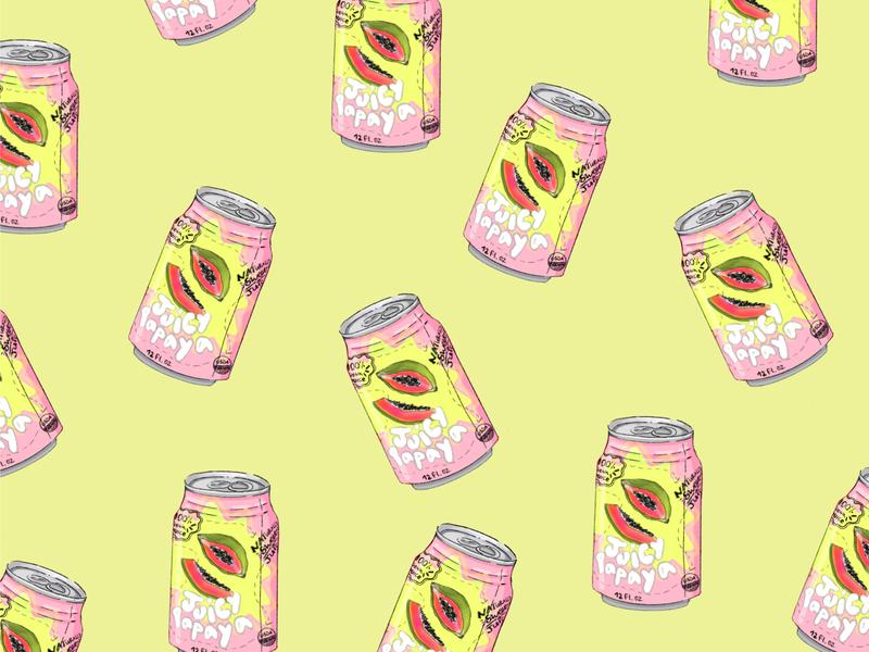 Juicy Papaya Boyes colorful packaging design branding animation illustration graphic art flat art digitalart graphic pattern pattern vector design ilustration