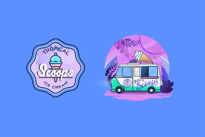 Tropica Scoops Logo and Graphic