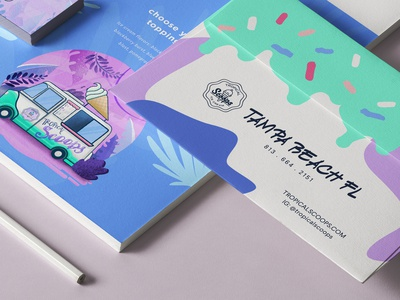 Tropical Scoops Stationery Application