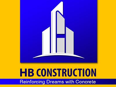 HB Construction Company   Logo   Branding construction company vector graphics design branding logo