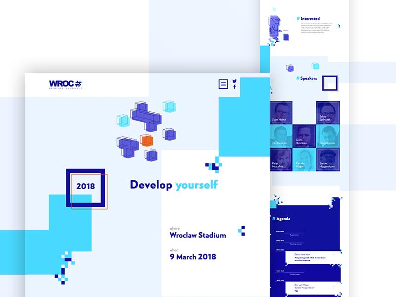 WROC# 2018 website www design web wroc minisite objectivity