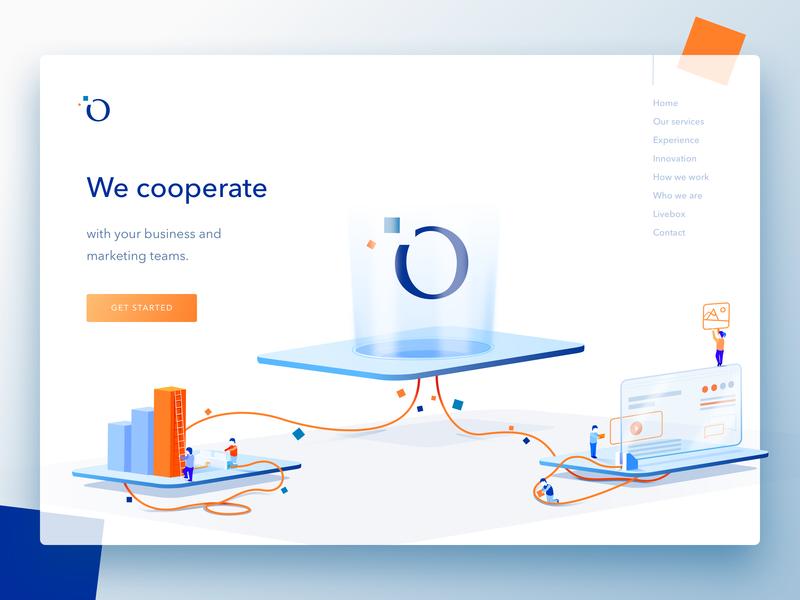 Cooperate Illustration web objectivity branding team illustration design czyzkowski