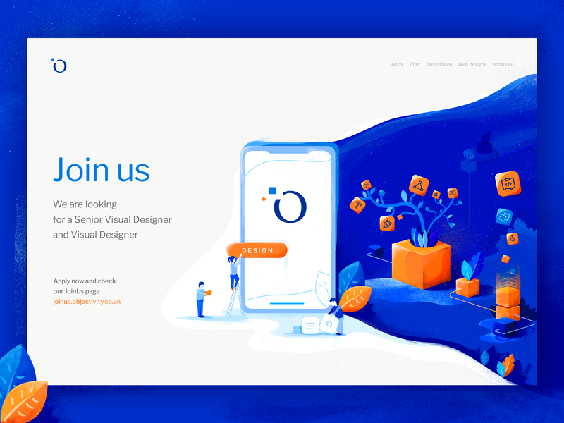 Join us Illustration branding visual design team join us web visual designer illustration objctivity czyzkowski