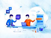 Illustration - How we work web objectivity illustration czyzkowski brand design brand