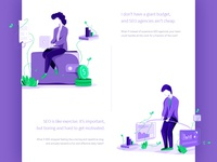SEO - Illustrations - set 1 web design objectivity czyzkowski illustration seo agency