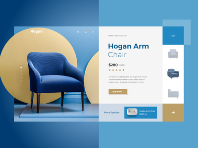Hogan - Home page buy online arm hogan chair webdesign website design herosection slider webpage website vector uiux branding typography creative design