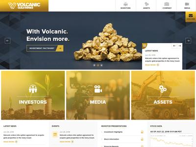 Volcanic - Gold Mining UI design