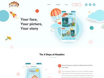 Mazakins - Online kids books app