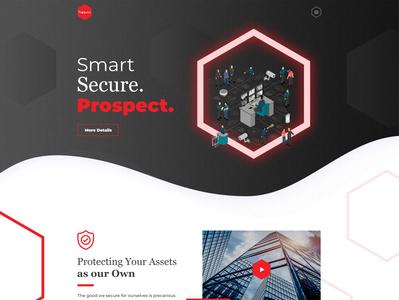 Prospect Security Website Design - Malaysia