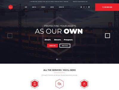 Prospect Security Website Design - V1 - Malaysia