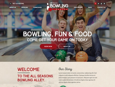 Bowling game HTML Template