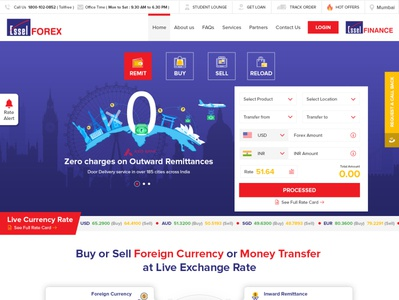 Essel Forex - UI design