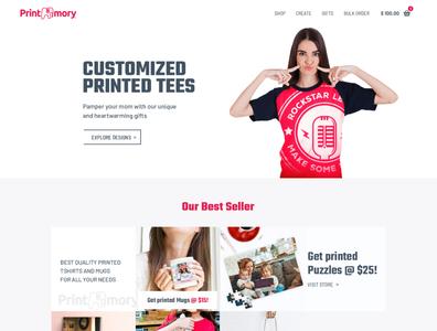 Print Mory - Priniting Tees UI design