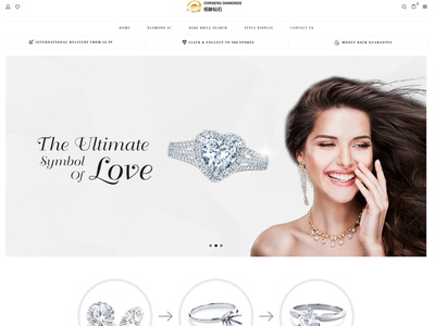 Chrisend Diamond UI web page
