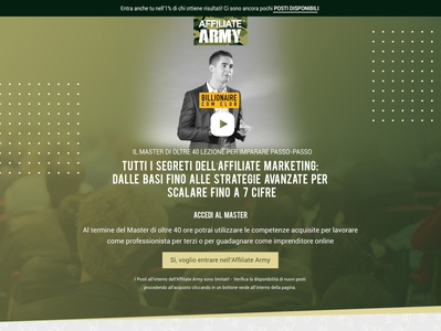 Affiliat Army - Unbounce UI page